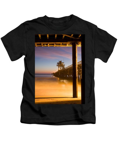 Sunset At San Clemente Kids T-Shirt