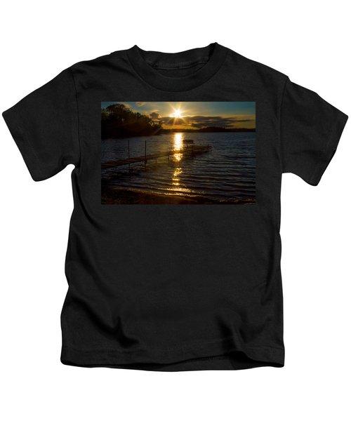 Sunset At The Lake Kids T-Shirt