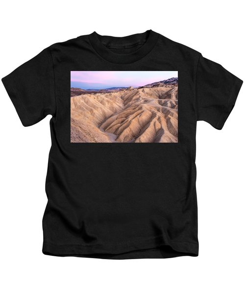 Sunset At Zabriskie Kids T-Shirt
