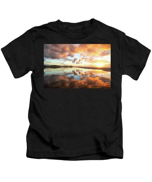 Sunset Beach Reflections Kids T-Shirt
