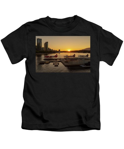 Sunset By The Seaplanes Kids T-Shirt