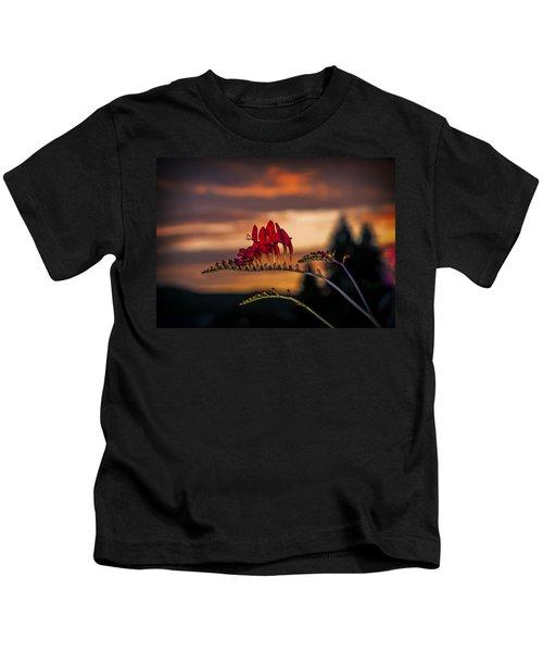 Sunset Crocosmia Kids T-Shirt