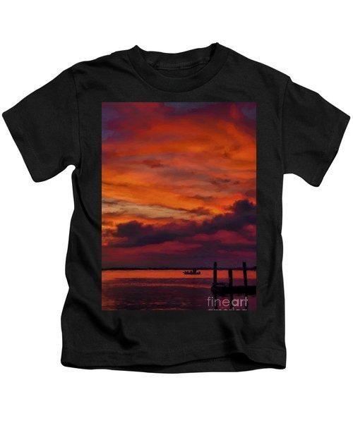 Sunset Cruise  Kids T-Shirt
