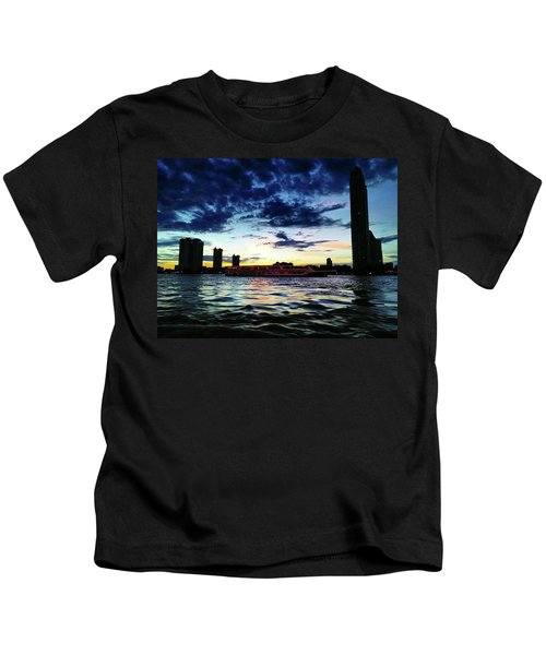 Sunset From The Boat On The Way To Kids T-Shirt