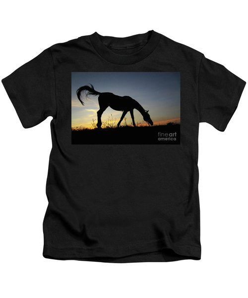Sunset Horse Kids T-Shirt