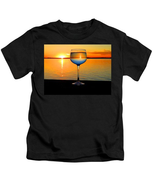 Sunset In A Glass Kids T-Shirt