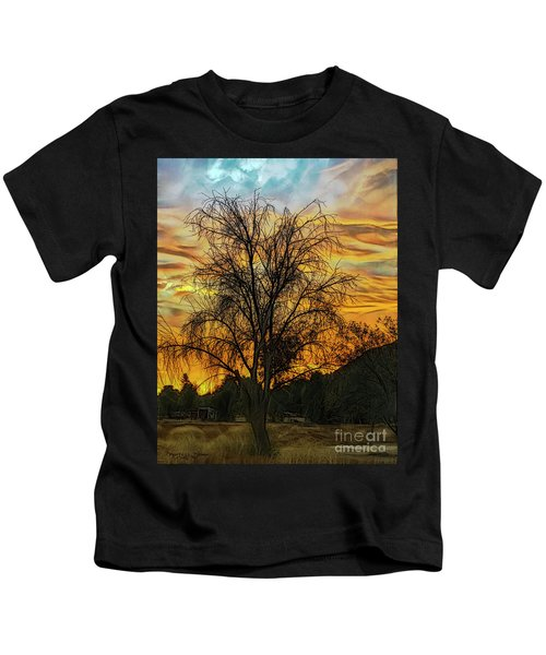 Sunset In Perris Kids T-Shirt