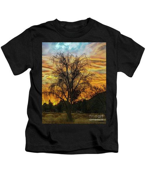 Sunset In Perris Kids T-Shirt