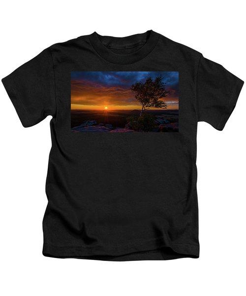 Sunset In Saxonian Switzerland Kids T-Shirt