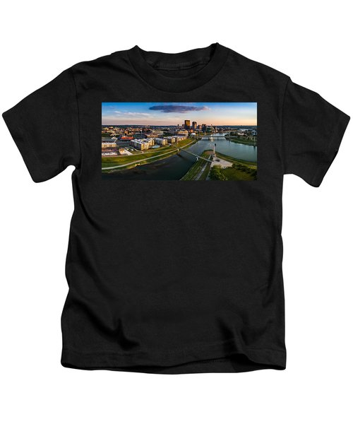Sunset On Dayton Kids T-Shirt