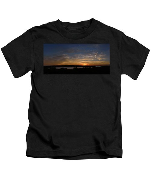 Sunset On Lake Georgetown Kids T-Shirt