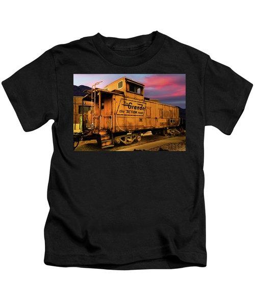 Sunset On The Rio Grande Kids T-Shirt