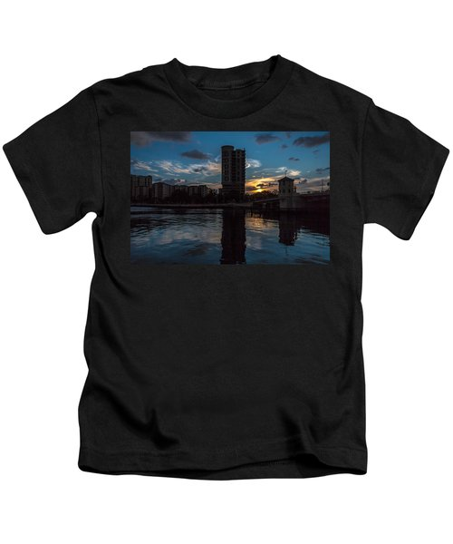 Sunset On The Water Kids T-Shirt