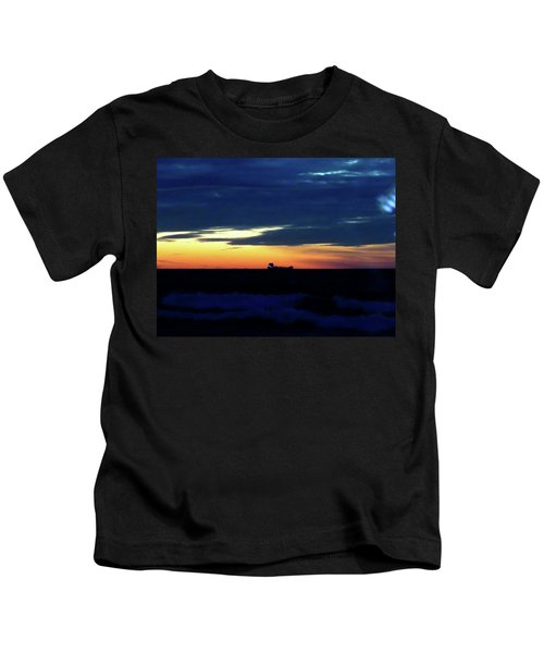 Sunset On Winter Solstice Eve Kids T-Shirt