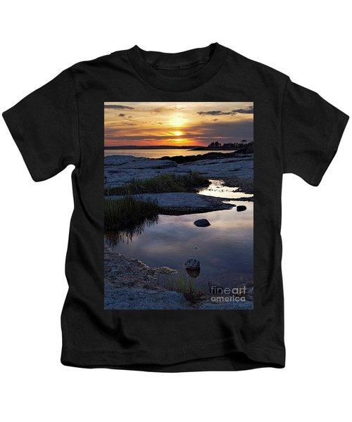 Sunset Over Boothbay Harbor Maine  -23095-23099 Kids T-Shirt