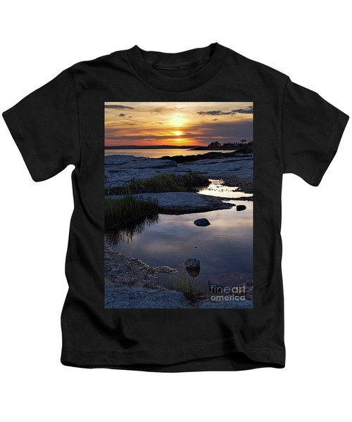 Sunset Over Boothbay Harbor Maine  -23095-23099 Kids T-Shirt