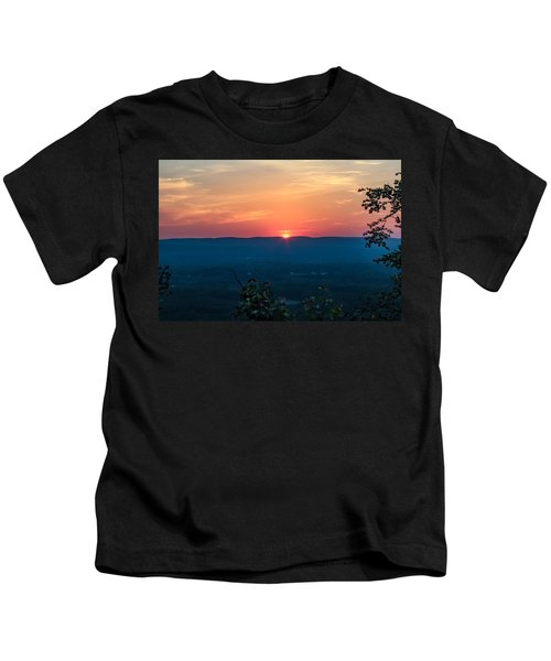 Sunset Over Easthampton Kids T-Shirt