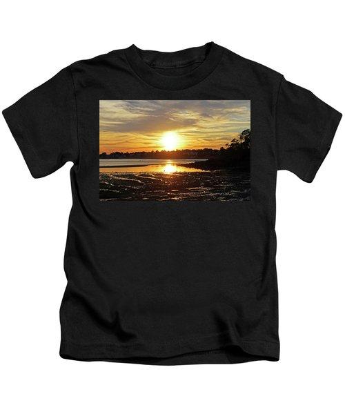 Sunset Over Lynch Park Beverly Ma Kids T-Shirt