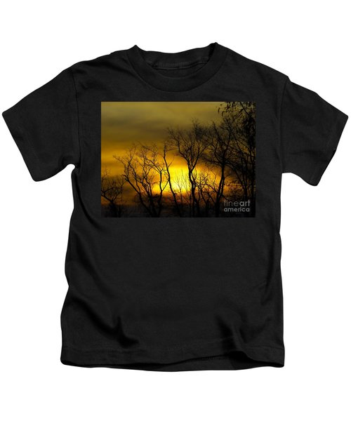 Sunset Over Our Free Land Kids T-Shirt