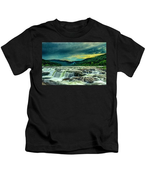 Sunset Over Sandstone Falls Kids T-Shirt