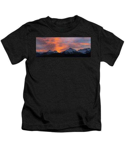 Sunset Over Tantalus Range Panorama Kids T-Shirt