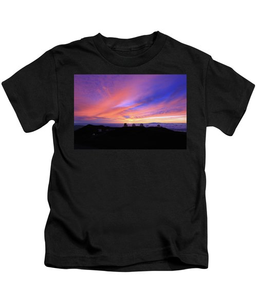 Sunset Over The Clouds Kids T-Shirt