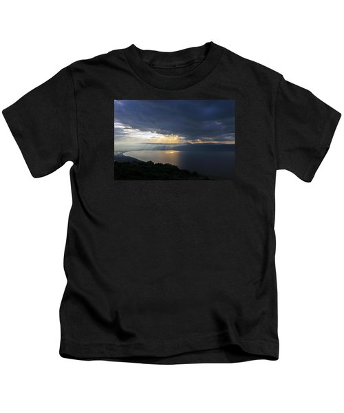 Sunset Over The Sea Of Galilee Kids T-Shirt