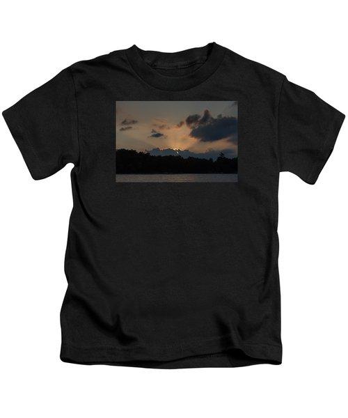 Sunset Over Wilderness Point Kids T-Shirt