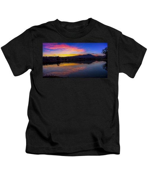 Sunset Panorama Of Mt. Tam And Richardson Bay Kids T-Shirt