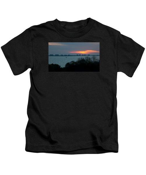 Sunset Sail On Sarasota Bay Kids T-Shirt