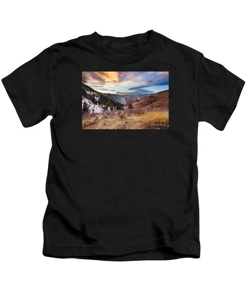 Sunset Sky Over Clear Creek Canyon Kids T-Shirt