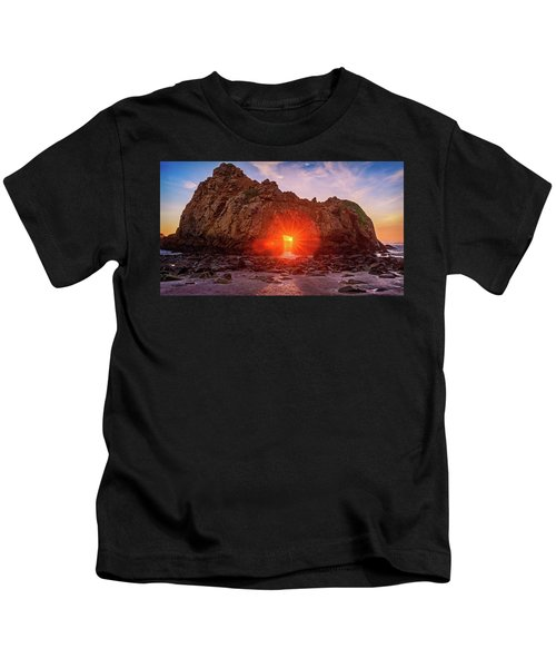 Sunset Through  Kids T-Shirt