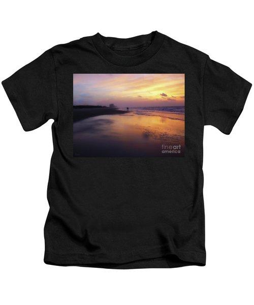 Sunset Walk On Myrtle Beach Kids T-Shirt