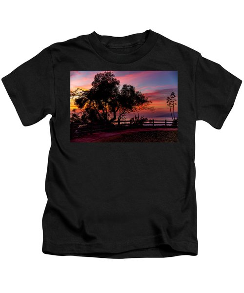 Sunset Silhouettes From Palisades Park Kids T-Shirt