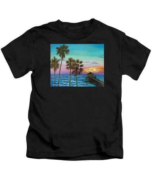 Surf City Sunset Kids T-Shirt