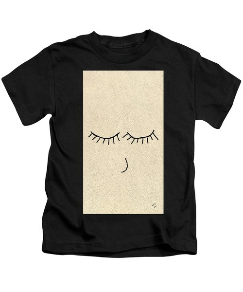Kids T-Shirt featuring the drawing Sweet Dreams by Marian Palucci-Lonzetta