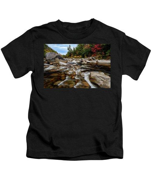 Swift River Autumn Nh Kids T-Shirt