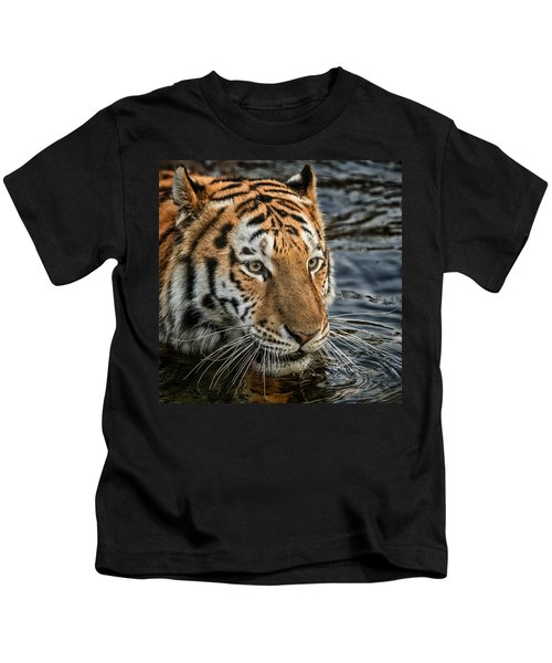 Swimming Tiger Kids T-Shirt