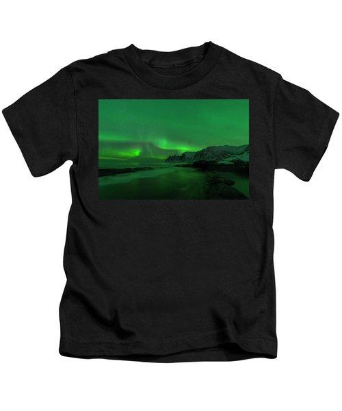 Swirling Skies And Seas Kids T-Shirt