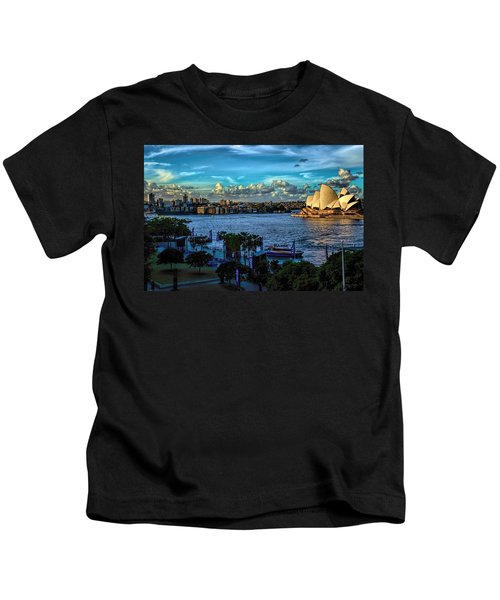 Sydney Harbor And Opera House Kids T-Shirt