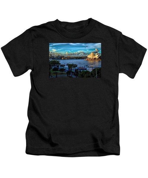 Sydney Harbor And Opera House Kids T-Shirt