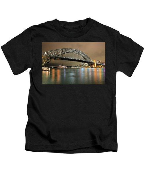 Sydney Harbour At Night Kids T-Shirt