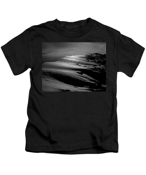 T-213312 Windblown Ice On Humphreys Peak Kids T-Shirt