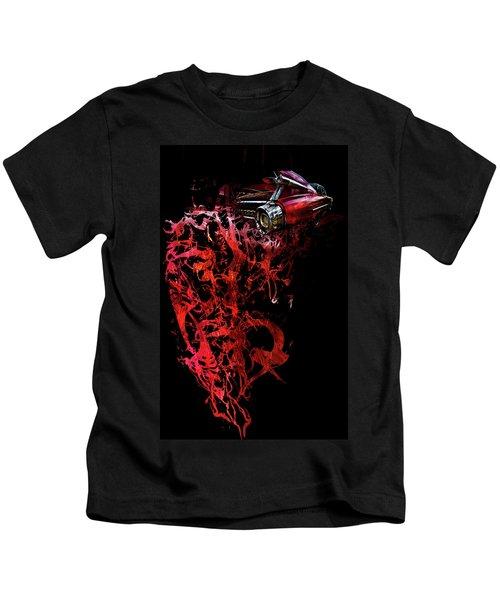 T Shirt Deconstruct Red Cadillac Kids T-Shirt