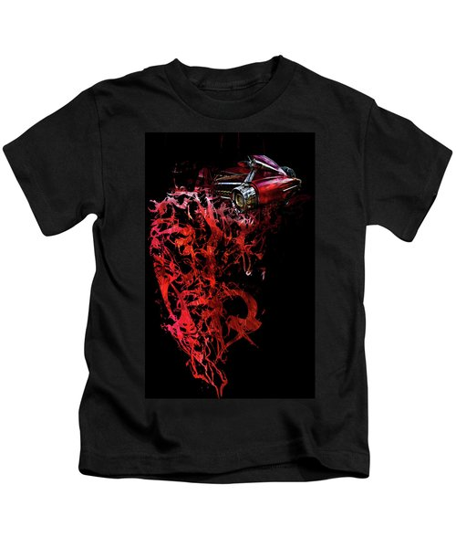 T Shirt Deconstruct Red Cadillac Kids T-Shirt