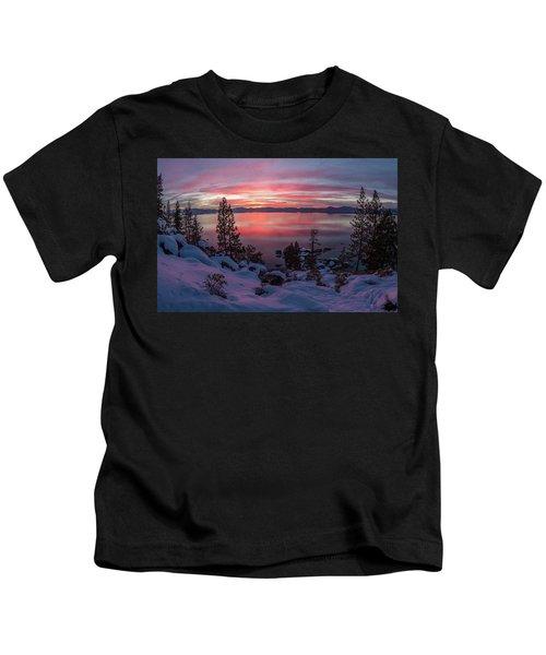 Tahhhhhoe Sunset Kids T-Shirt