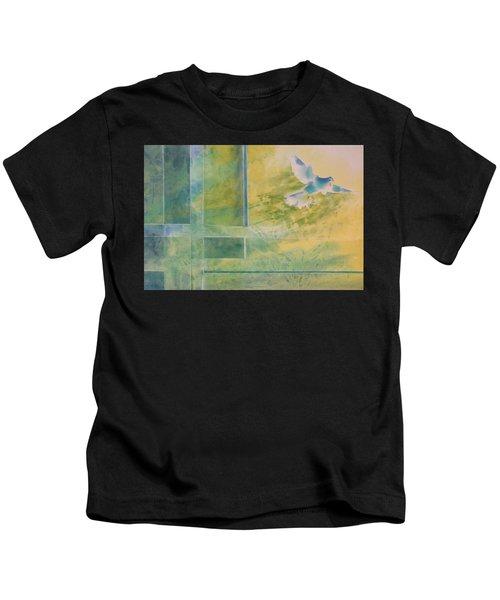 Taking Flight To The Light Kids T-Shirt