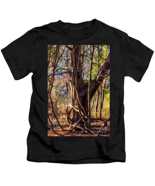 Tangled Vines On Tree Kids T-Shirt