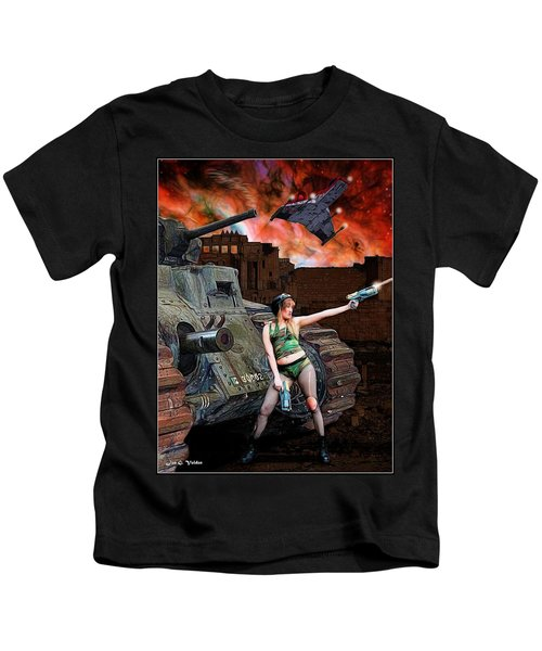 Tank Girl In Action Kids T-Shirt
