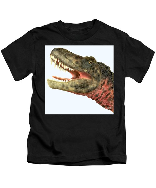 Tarbosaurus Dinosaur Head Kids T-Shirt